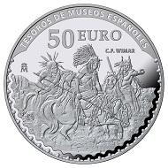 Spain / 50 Euros / Silver .925 / 168.75g / 73mm / Mintage: 3000.