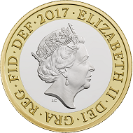 Great Britain / 2 Pounds / Silver .925 and Silver .925 plated with fine gold / 12g / 28,4mm / Design: Jody Clark (obverse) and Dominique Evans (reverse).