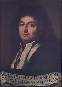 Porträt des Giovanni Martino Hamerani von 1705.