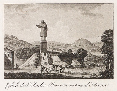 Statue of St. Charles Borromeo in Arona, by Gabriel Lory (1784-1846). Swiss National Library, GS-GUGE-LORY-A-12.