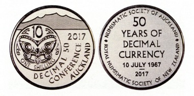 Medal, issued to mark the Decimal Currency Conference.