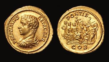 Aureus of Geta, 207 CE.