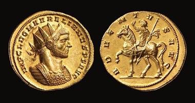 Aureus of Aurelianus, 274 CE.