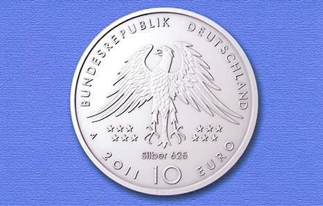 So oder so ähnlich wird die Materialangabe in Zukunft auf der Münze untergebracht sein.