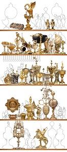 Visuelle Rekonstruktion der Kunst- und Wunderkammer. Quelle: © KHM-Museumsverband.