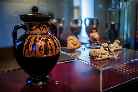 Amphora des Töpfers Amasis, Athen, um 550/540 v. Chr. © Ruedi Habegger, Antikenmuseum Basel und Sammlung Ludwig.