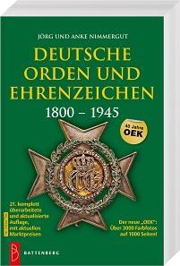 Jörg Nimmergut, Anke Nimmergut, Deutsche Orden und Ehrenzeichen 1800-1945. Gietl Verlag, Regenstauf 2017. 21. Auflage. 1024 Seiten mit durchgehend farbigen Abbildungen, 12,5 x 19 cm, Paperback. ISBN: 978-3-86646-142-0. 39,90 Euro.
