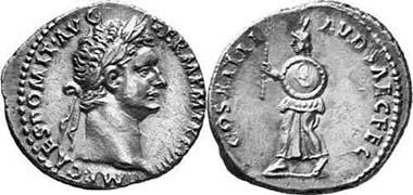 Domitianus, 81-96. Denar, 88. COS XIIII LVD SAEC FEC Herold mit Rundschild und Stab n. l. gehend. RIC 117. Aus Auktion Gorny & Mosch 134 (2004), 2710.