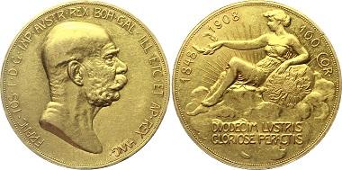 Los G253: Österreich. Kaiserreich. Franz Joseph, 1848-1916. Wien. 100 Kronen 1908 60. Regierungsjubiläum. Sehr schön-vorzüglich. 4.700 Euro.