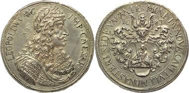 Los 689: Münster. Bistum. Sedisvakanz, 1683. Münster. Taler 1683. Kleiner Schrötlingsfehler, fast vorzüglich 1.950 Euro.