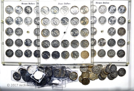 U.S. Morgan & Peace Silver Dollar Collection, Nearly Complete, 1878 to 1935.