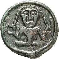 Nr. 24. Remi (Reg. Reims, Champagne. Potin, ca. 60-40 v. Chr. Gutes sehr schön. Taxe: 100 Euro.