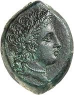 Nr. 74. Henna (Sizilien). Bronze, ca. 339/8-335. Sehr selten. Fast vorzüglich. Taxe: 2.500 Euro.