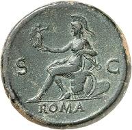 Lot 153. Nero. Sestertius, Lugdunum, 66. RIC 517. Untouched jade green patina. Extremely fine. Estimate: 5,000 euros.