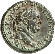 Lot 156. Vespasian. Sestertius, 71. RIC 243. Untouched surface. Showpiece. Estimate: 8,500 euros.