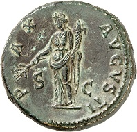 Nr. 156. Vespasian. Sesterz, 71. RIC 243. Unberührte Oberfläche. Prachtexemplar. Taxe: 8.500 Euro.