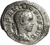 Nr. 234. Philipp II. Quinar, Rom, 248. RIC 231b. 3. bekanntes Exemplar. Sehr schön / Vorzüglich. Taxe: 4.000 Euro.