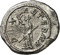 Lot 234. Philip II. Quinarius, Rome, 248. RIC 231b. 3rd known specimen. Very fine / Extremely fine. Estimate: 4,000 euros.