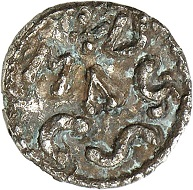 Lot 500. Charlemagne. Denar, Mayence, ca. 768-775. Extremely rare. From a Belgian private collection (1960s). Very fine. Estimate: 5,000 euros.