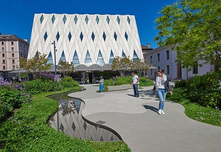 The new MEG building. Bureau Graber Pulver Architekten AG, Zurich. Photo: © Blaise Glauser.