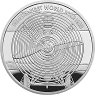 "Great Britain / £5 ""Sopwith Camel"" / .925 silver / 38.61mm / 28.28g / Reverse Design: David Cornell / Mintage: 1917 (set)."