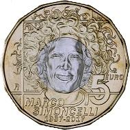 Republik San Marino / 5 Euro / Bronzital, Kupfernickel / 27,5 mm / 9,50 g / Design: Maria Carmela Colaneri / Auflage: 76.493.