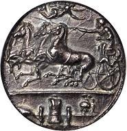 Lot 20006: Sicily. Syracuse. Dionysios I, 406-367 B.C. AR Decadrachm (42.18 gms), ca. 405-390 B.C. NGC AU, Strike: 4/5 Surface: 3/5. Fine Style.