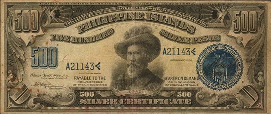 Lot 30336: Philippines. Philippine Islands. 500 Pesos, 1906. P-33c. PMG Very Fine 25 Net. Rust.