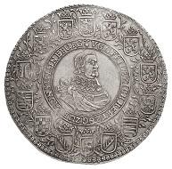 Nr. 3350: Braunschweig-Lüneburg-Celle. Friedrich, 1636-1648. Löser zu 4 Reichstalern 1647, Clausthal, auf das bevorstehende Ende des 30jährigen Krieges. Äußerst selten. Vorzüglich.Taxe: 25.000,- Euro.