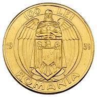Nr. 4441: Rumänien. Karl II., 1930-1940. 100 Lei 1939, Bukarest, auf den 100. Geburtstag von Karl I. Aus Sammlung Phoibos. Äußerst selten. Vorzüglich.Taxe: 20.000,- Euro.
