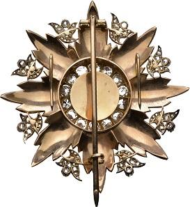 Nr. 7176: Hoher Orden der Auszeichnung. Bruststern, Ausführung mit Diamanten im Medaillon-Ring. Aus Ottoman Collection. RRRR. II. Taxe: 50.000,- Euro.