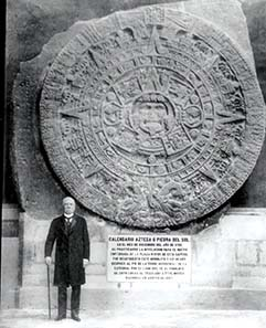 The Aztec calendar, carved in stone - c. 1479