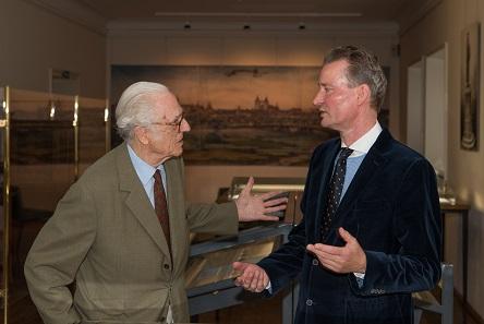 S. K. H. Herzog Franz von Bayern besuchte am 6. Juli 2017 die Münzsammlung und ließ sich privat von Oberkonservator Prof. Dr. Kay Ehling durch die Ausstellung führen.