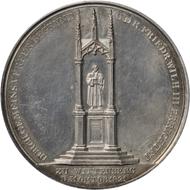 Luther-Denkmal in Wittenberg, 1821, Medaille von A. Fr. König, Silber.