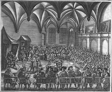 The contemporary engraving, depicting the same happenings.