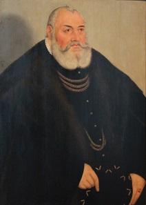 Georg der Fromme, Markgraf von Brandenburg-Ansbach. Gemälde von Lucas Cranach dem Jüngeren. Heute im Jagdschloss Grunewald.