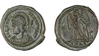 Constantinian coin struck in Lugdunum. ©RAMM.
