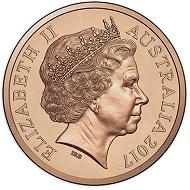 Australia / 1 Cent / Bronze / 2.6g / 17.53mm.