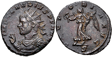 Lot 477: Claudius II Gothicus. AD 268-270. Antoninianus. Mediolanum (Milan) mint, 2nd officina. Near EF. Estimate: 150 USD.