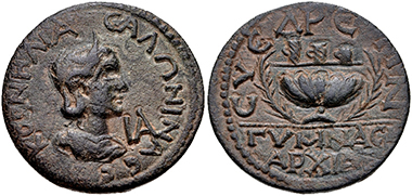 Lot 342: Cilicia, Syedra. Salonina. Augusta, AD 254-268. Good VF. Estimate: 300 USD.