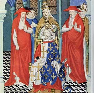 The Pope crowns Charles of Anjou as ruler over Sicily. Source: Wikipedia.