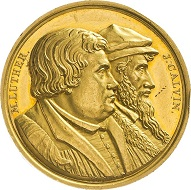 Brandenburg-Prussia. Friedrich Wilhelm III (1797-1840) Gold medal of 10 ducats 1817 on the 300th anniversary of the Reformation. Estimate: 3,500 euros. From Künker sale 297 (September 27, 2017), No. 3322.