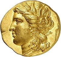 Lot 123: Syracuse (Sicily). Hieron II, 274-216 BC. Hemistater, ca. 220-217. Extremely fine. Estimate: 5,000,- euros.