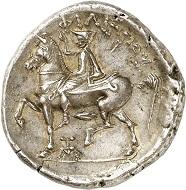 Lot 186: Philip II, King of Macedonia. Tetradrachm, 359-355, Pella. From NFA (1985), No. 68. Extremely fine. Estimate: 5,000,- euros.