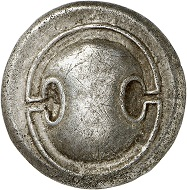 Lot 234: Thebes (Boiotia). Stater, ca. 395-338. Struck under Epaminondas. Very fine. Estimate: 750,- euros.