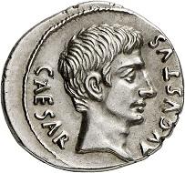 Lot 516: Augustus, 27 BC – AD 14. Denarius, 19 BC. Extremely fine. Estimate: 3,500,- euros.
