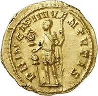 Lot 892: Hostilian, as Caesar, 251. Aureus. Extremely fine. Estimate: 28,000,- euros.