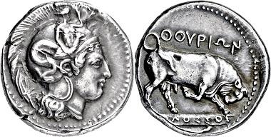 Los 2056: Italien. Lukanien. Thourioi. Stater. 4. Jh. v. Chr. Taxe: 7.000 EUR.