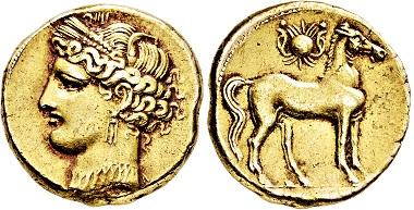 Los 2347: Zeugitania. Karthago. Elektron 1 1/12 Stater. 255-241 v. Chr. Taxe: 7.000 EUR.