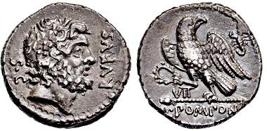 Los 2403: Römische Republik. Pomponia. Denar. 73 v. Chr. Taxe: 7.500 EUR.